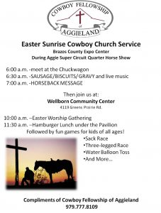 Easter Sunrise Service and Chuck Wagon Breakfast @ Brazos County Expo Center | Bryan | Texas | United States